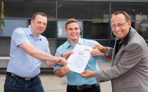 Sailer Christoph unter Top 10 Lehrlingen in Oberösterreich